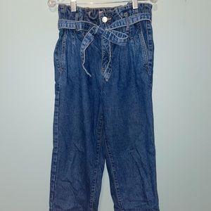 High-Waisted Blue Jean Cut Offs